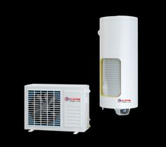 Hot water supply through air source heat pump