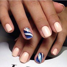 Bright water nails, Classic short nails, Cool nails, Everyday nails, Marble nails, Nails ideas 2017, Office nails, Simple nail art
