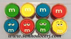 Cupcakes M&M's! curta nossa página no Facebook: www.facebook.com/sonhodocerj