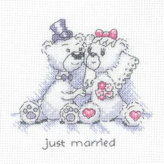 Justin Bear Counted Cross Stitch Greeting Cards by Heritage Crafts