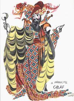 Calaf by Emanuele Luzzati (Genova 1921 - 2007)