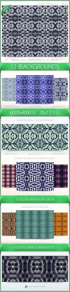 Kaleidoscope Pattern Backgrounds Volume 2