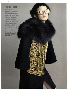 Russia Vogue 11/09  styled by Simon Robins  eyewear by Mercura NYC