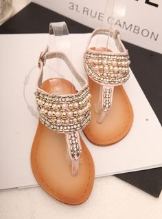 aa40a89fd05 Sweet bling handmade beaded t belt diamond flip flop flat sandals women s  shoes-inSandals from Shoes on Aliexpress.com  31.81