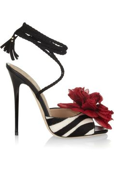 Jimmy Choo Faye Zebra-Print Calf Hair High Heel Shoes   If you are looking for the perfect pair of women's high heel shoes that will complet...