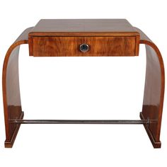 French Art Deco walnut desk/ dressing table- circa 1925 | From a unique collection of antique and modern desks and writing tables at https://www.1stdibs.com/furniture/tables/desks-writing-tables/