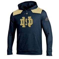 Notre Dame Fighting Irish Under Armour 2014 Shamrock Series Captured Hoodie - Navy Blue