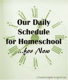 Daily homeschool scheduling tips (I really like this one)