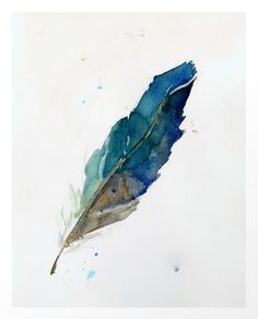 Feather Art Print by Megan T Gibbens Watercolor Feather, Feather Art, Watercolor Paintings, Watercolors, Illustrations, Illustration Art, Fine Art Prints, Canvas Prints, Watercolor Projects