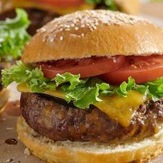 Recipe | Hidden Valley® Ranch Ranch Burger Recipes, Ranch Burgers, Meat Recipes, Cooking Recipes, Dinner Recipes, Hamburger Recipes, Sandwich Recipes, Dinner Ideas