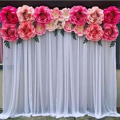 ___ OFF templates, hardcopy and pdf. At checkout, Use cod Backdrop Decorations, Bridal Shower Decorations, Birthday Party Decorations, Flower Decorations, Wedding Decorations, Paper Flower Wall, Paper Flower Backdrop, Paper Flowers Diy, Paper Flower Tutorial
