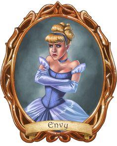 7 Disney Sins: Envy - disney-princess Fan Art