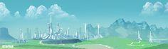 Utopian, Steve Palmerton on ArtStation at https://www.artstation.com/artwork/utopian