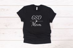 This German Shepherd dog Mom t-shirt is made of super soft material and comes in unisex sizing which makes it have a comfy, relaxed fit that's perfect for any outfit! 10% of your purchase is donated to help dogs in need at local animal shelters. #gsd #germanshepherd #germanshepherddog #gsdmom Dog Mom Shirt, Mom Shirts, T Shirts For Women, Dog Mom Gifts, Dog Lover Gifts, Group Of Dogs, Dog Books, Crazy Dog, Unisex Fashion