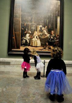 En el Museo del Prado: tres meninas