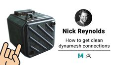 A new tutorial from Nick Reynolds shows how to get some great clean dynamesh connections. A nice time-saving technique for 3d artists. Grab work files and vi...