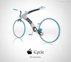 Creative Apple Concept Designs To Make Our Lives Easier Apple-Concept-Designs-iCycle WOW this is super cool. Got to be expensive to the extremes though :/Apple-Concept-Designs-iCycle WOW this is super cool. Got to be expensive to the extremes though :/ Electronics Gadgets, Tech Gadgets, Cool Gadgets, Bike Gadgets, Steve Wozniak, Cool Technology, Technology Gadgets, Technology Photos, E Mobility
