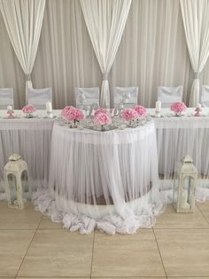 Stylish wedding reception head table