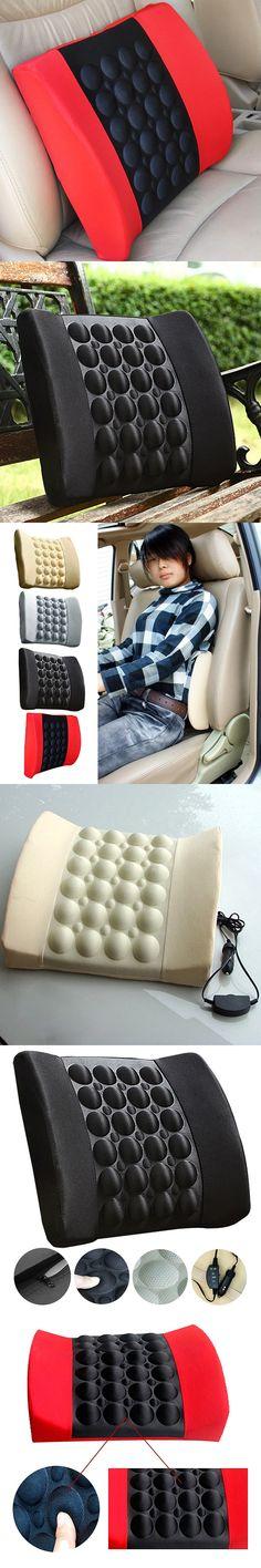 High Quality  Black Waist Massage Pillow DC 12V Car Automative Waist Support Pad Back Cushion Electric Waist Health Care Gift TN