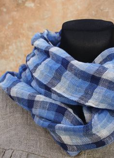 Pure Linen Summer Scarf Lightweight FREE SHIPPING by LinenStyle, $26.99
