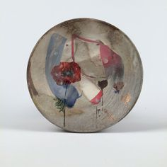 Wood Fired sandwich plate with poppies by rothshank on Etsy