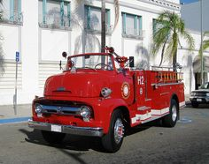Chevy trucks aficionados are not just after the newer trucks built by Chevrolet. They are also into oldies but goodies trucks that have been magnificently preserved for long years. Fire Dept, Fire Department, New Trucks, Ford Trucks, Ambulance, Cool Fire, Ford V8, Fire Equipment, Rescue Vehicles