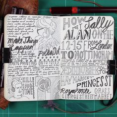 Illustration Jitesh Patel Moleskine Sketch Book I'm dedicating this page to Sally and Alan who met on the 21:15 from London to…