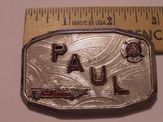 VINTAGE PAUL FIRE DEPT  BELT BUCKLE