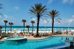 Gulf-front pool at Boardwalk Beach Resort condos