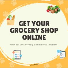 Get your grocery shop online with our user friendly e-commerce solution. Grocery Shopping App, Grocery Shop Online, Shopping Stores, Vegetable Shop, Delivery App, Ecommerce Store, Ecommerce Platforms, Startups, Entrepreneur