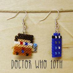 """Orecchini mini hama beads 10° dottore """"Doctor Who"""" : Orecchini di mrs-poppy"""