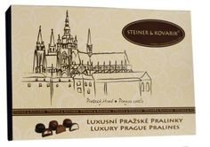 In luxury wooden box you can find three kinds of pralines, caramel in dark chocolate, hazelnuts paste and liquer in milch chocolate. #lovelockstore #prague #lovelockstory #chocolate #chocolateprague