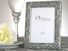 Classic Jeweled Photo Frame Favors from Wedding Favors Unlimited