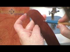 """Sharon Schamber - The Perfect Curved Binding - YouTube. Note: to sew """"princess seam"""" meters by machine, sew over a piece of paper. myb"""