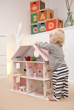 @Brandon Green Lullaby #cardboard doll house $69.95 (with Multiboxes in background)