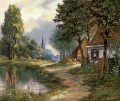 Reint Withaar   - Countryside Paintings by Reint Withaar   Art and Design