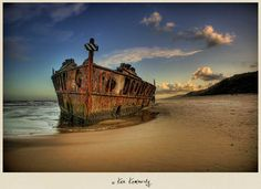 The Maheno Shipwreck on Fraser Island, Queensland - Australia I love this place! It was amazing! Best Travel Websites, Best Places To Travel, Places To See, Travel Around The World, Around The Worlds, Australian Continent, Abandoned Ships, Fraser Island, Ghost Ship