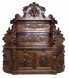 Monumental Carved Victorian Sideboard by Alexander Roux NYC   c.19th Century  -  Antiques.com
