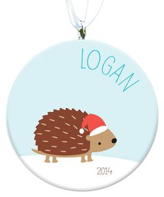 Hedgehog Personalized Ornament by sarah + abraham #zulily #zulilyfinds
