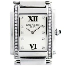 1stdibs | PATEK PHILIPPE Lady's Stainless Steel and Diamonds Twenty-4 Wristwatch Ref 4910