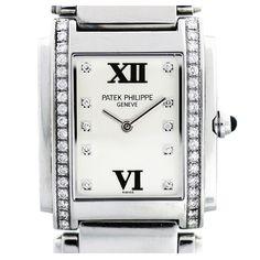 1stdibs | PATEK PHILIPPE Lady's Stainless Steel and Diamonds Twenty-4 Wristwatch Ref 4910