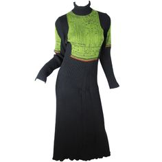 1990s Jean Paul Gaultier Knit Circuit Board Dress | From a collection of rare…