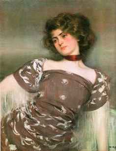 Julia Peraire  -  Ramon Casas i Carbó Catalan painter 1866-1932Julia Peraire, a seller of lottery 22 years younger than him.The first painted in 1906 when Julia was 18. He soon became his favorite model and lover. Although his family did not approve of this relationship finally came to marrying in 1922 .