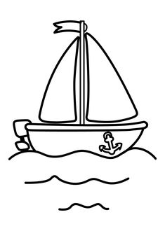 Boat Transportation Coloring Pages For Kids Printable Sailing Ship