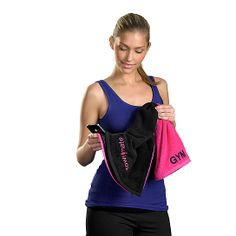 (2) Zippered Fitness Towel with Germ Shield by TowelMate