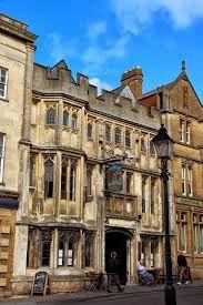 George and Pilgrims Hotel. Glastonbury High Street-Glastonbury England.