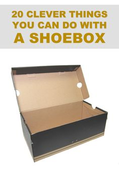 easy diy cardboard crafts great 20 clever things you can do with a shoebox crafts of easy diy cardboard crafts Diy Crafts To Do, Diy Projects To Try, Easy Crafts, Crafts For Kids, Easy Diy, Diy Projects With Shoe Boxes, Clever Diy, Art Projects, Diy Storage Boxes
