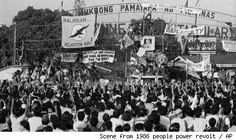 People Power Revolution 1986 | Happy 28th anniversary to the Philippines' historic peaceful People Power EDSA Revolution! People Power Revolution, Innocent People, Power To The People, Never Again, Cairo, Manila, Philippines, Dolores Park, Anniversary