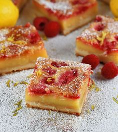 Luscious Raspberry Lemon Bars Recipe - RecipeChart.com