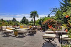 This outdoor living area is absolutely gorgeous thanks in part to its Mediterranean flair. Bellevue, WA Coldwell Banker BAIN  $4,488,000